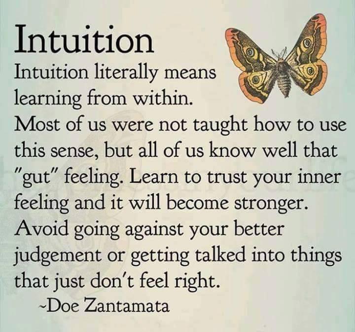 Intuition quote by Doe Zantamata