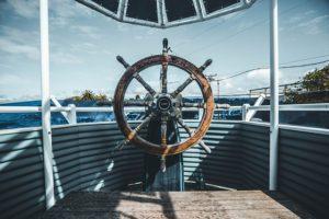 Wheel of boat